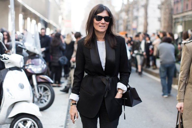 Emmanuelle Alt, editor-in-chief of Vogue Paris // Image via LaClosette.com